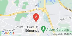 Google static map for L. Fulcher Funeral Directors, Bury Saint Edmunds Dignity House