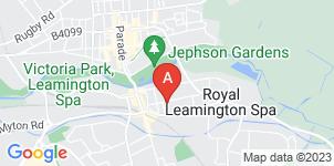 Google static map for John Taylor Funeral Service, Leamington Spa