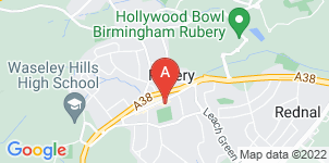 Google static map for Mortons Funeral Directors, Rubery