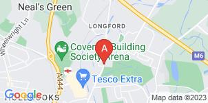 Google static map for J.E Hackett & Sons Ltd, Coventry