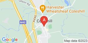 Google static map for Gascoignes of Coleshill Ltd