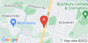 Google static map for F W Collins & Son Funeral Directors, Stafford Road
