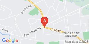 Google static map for Gordon Barber Funeral Directors, Thorpe St Andrew