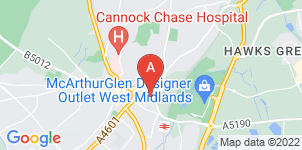 Google static map for A.J. Sellman Family Funeral Directors, Cannock