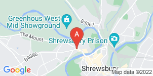 Google static map for Aubrey Kirkham Funeral Directors, Shrewsbury