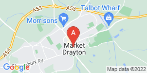 Google static map for Market Drayton Funeral Service