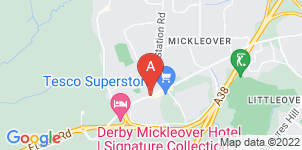 Google static map for The Co-operative Funeralcare Mickleover
