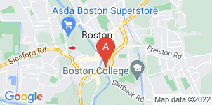 Google static map for Boston Co-operative Funeral Service