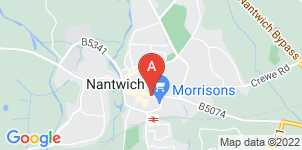 Google static map for Nantwich Funeral Services