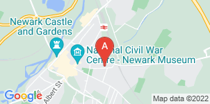 Google static map for Newark Co-operative Funeral Service