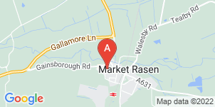 Google static map for Market Rasen Co-operative Funeral Service