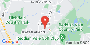 Google static map for Reddish Funeral Directors