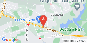Google static map for Mulligan's Funeral & Monumental Services, Gorton