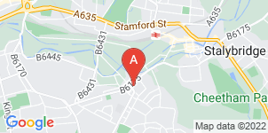Google static map for Far & Beyond Funeral Services, Stalybridge
