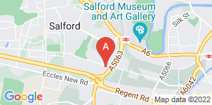 Google static map for Salford Funeralcare
