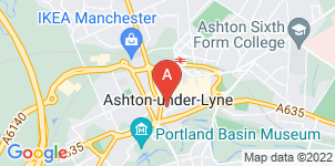 Google static map for A.F Whites Funeral Services, Ashton Under Lyne