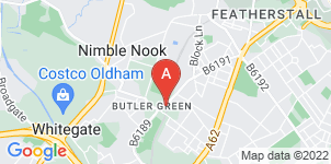 Google static map for J Dyson Funeral Directors