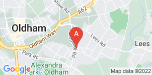 Google static map for Oldham Muslim Funeral Services