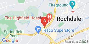 Google static map for Robert Nuttall Funeral Service (incorporating Joseph Greene & Son)