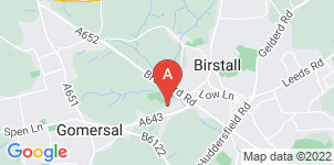 Google static map for Bolland Funeral Directors