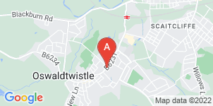Google static map for Oswaldtwistle Funeral Services