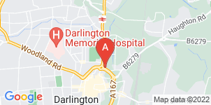 Google static map for The Co-operative Funeralcare, Darlington Memorial House
