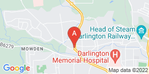 Google static map for Whitehouse Funeral Service Ltd, Darlington