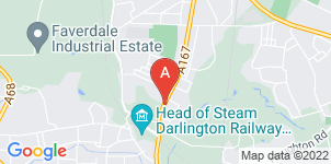 Google static map for John Meynell Funeral Directors, Darlington