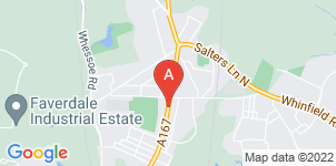 Google static map for Darlington Funeral Service