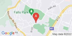 Google static map for O'Kanes Funeral Directors, Falls Road