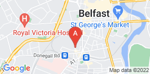 Google static map for Sandy Close Funeral Services, Sandy Row, Belfast