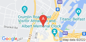 Google static map for O'Kanes Funeral Directors, Donegall Street