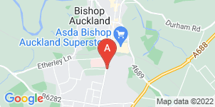 Google static map for Gibson's Funeral Services Ltd, Bishop Auckland
