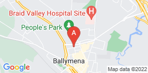 Google static map for WJ O'Donnell & Sons, Ballymena