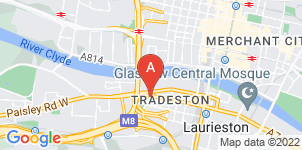 Google static map for Co-op Funeralcare, Tradeston, Glasgow