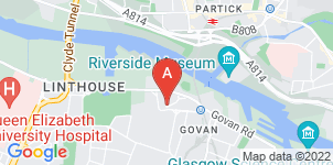 Google static map for The Co-operative Funeralcare, Govan