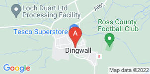 Google static map for Alasdair Rhind Funeral Directors, Dingwall