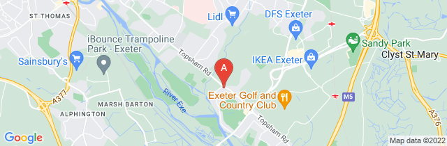 Google static map for LeRoy Funerals, Exeter (Topsham Road)