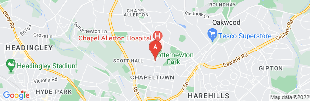 Google static map for Gooding Funeral Services