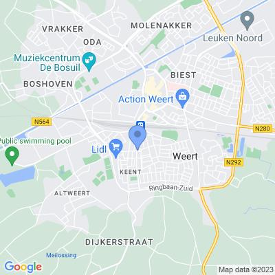 Google maps Weert Keent en Moesel