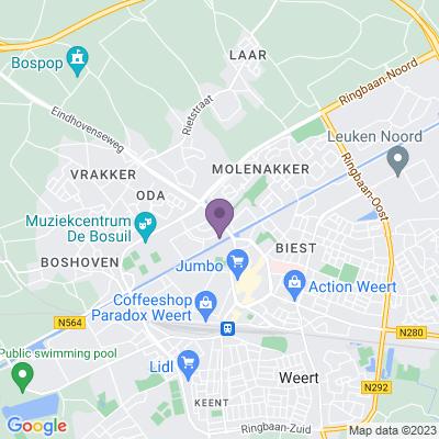 Google maps Hofjeswoningen in Weert