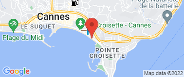 Plage Juliana Cannes - Plan