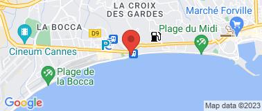Gare SNCF Cannes la bocca - Plan