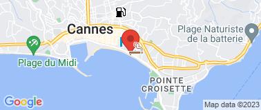 VEGALUNA Plage - La Croisette - Plan