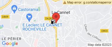 Station Avia le Cannet - Plan