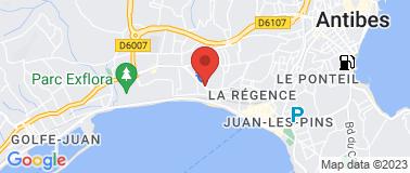 Station Agip Juan les Pins - Plan