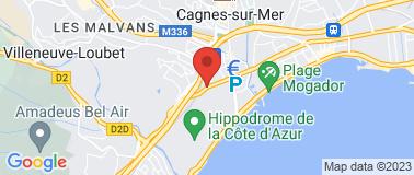 Station Agip Villeneuve Loubet - Plan