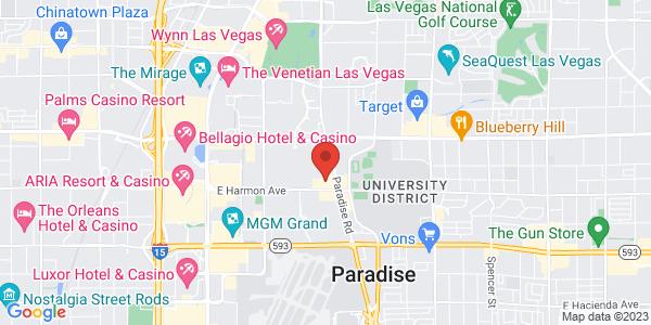 Google Map of Hard Rock Hotel & Casino, Las Vegas, NV