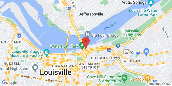 Google Map of 401 River Rd, Louisville, KY, USA