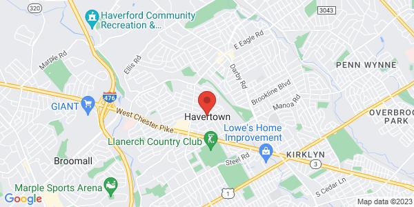Google Map of havertown, pa